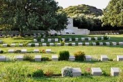 Ari Burnu Cemetery, Anzac Cove, Gallipoli, Turkey. Gallipoli Ari Burnu Cemetery at Anzac Cove by Aegian Sea, Galllipoli, Turkey. Area of Anzac Landings and royalty free stock photo