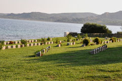Ari Burnu Cemetery, Anzac Cove, Gallipoli, Turkey Royalty Free Stock Images