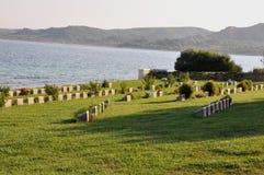 Anzac Burnu Cemetery, Gallipoli, Turkije royalty-vrije stock afbeeldingen