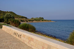 Anzac Cove, Galllipoli, Turkey Royalty Free Stock Photos