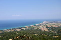 Anzac Cove (Ariburnu) From Chunuk Bair, Canakkale, Turkey Royalty Free Stock Images