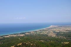 Anzac Cove (Ariburnu) van Chunuk Bair, Canakkale, Turkije royalty-vrije stock afbeeldingen