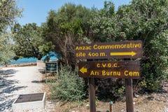 Anzac Cove en Gallipoli en Canakkale Turquía imágenes de archivo libres de regalías
