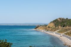 Anzac Cove in Gallipoli at Canakkale Turkey. ANZAC cove, site of World War I landing of the ANZACs on the Gallipoli peninsula in Canakkale Turkey royalty free stock photos