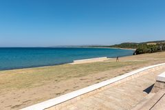 Anzac Cove in Gallipoli in Canakkale Turkije royalty-vrije stock foto's