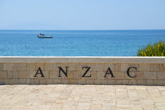 Anzac Cove Memorial in Canakkale Turkey. During the first World war there was a big battle at this place between British and Turkish armies. Very historical Royalty Free Stock Photos