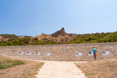 Anzac Cove Memorial in Turkey Stock Images
