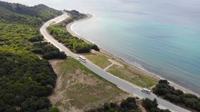 Anzac cove. Anzac Cove is a small cove on the Gallipoli peninsula in Turkey. It became famous as the site of World War I landing of the ANZACs on 25 April 1915 stock video