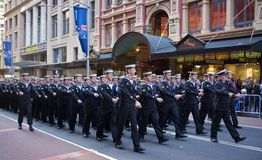 Anzac Day 2012. Sydney Anzac Day 2012. Men and women march down George street in Sydney as part of the annual parade to commemorate Anzac Day Stock Photography