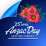 Anzac Day illustration stock
