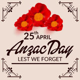 Anzac Day Images stock
