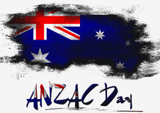 ANZAC Day avec le drapeau d'Australie illustration stock