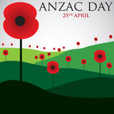 ANZAC Day card in vector format. Royalty Free Stock Image