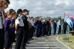 Anzac Day - ceremonia conmemorativa de la guerra Fotos de archivo