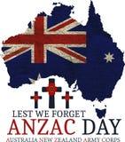 Anzac day. Greeting card Stock Photo
