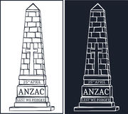 Anzac day. Greeting card Stock Images