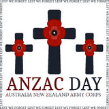 Anzac day. Greeting card Stock Photography
