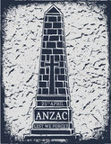 Anzac day. Greeting card Royalty Free Stock Images
