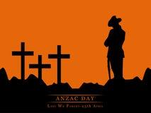 Anzac Day-Hintergrund Stockfotografie