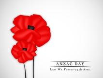 Anzac Day-Hintergrund Lizenzfreies Stockbild