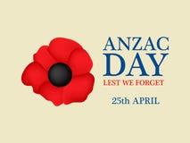 Anzac Day-Hintergrund Lizenzfreie Stockfotografie