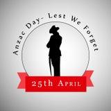 Anzac Day-Hintergrund Stockfoto
