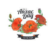Anzac Day. Lest we forget Stock Photography