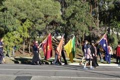 Anzac Day March Immagini Stock Libere da Diritti