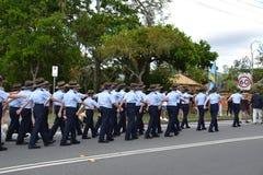 Anzac Day-parade in Corrumbin, Palm Beach in Australi? 2019 royalty-vrije stock afbeeldingen