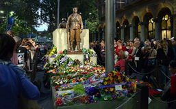 ANZAC Day Sunset Service am Ehrengrabmal, Martin Place Lizenzfreie Stockfotos
