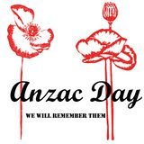 Anzac day 25th of April remembrance on white background royalty free illustration