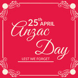 Anzac Day Royalty Free Stock Images