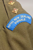 Anzac Day - War Memorial Service. New Zealand Army veteran soldier original ranking and uniform from Korea war time during a National War Memorial Anzac Day in Stock Images