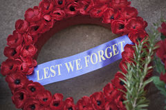 Anzac day wreath Royalty Free Stock Image