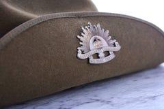 ANZAC dnia ciamajda Australijski kapelusz Zdjęcia Stock