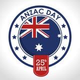 Anzac dnia 25th Kwietnia logo Obraz Stock