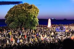 Anzac dzień 2018, góra Maunganui, Nowa Zelandia: Jutrzenkowa parada obrazy royalty free