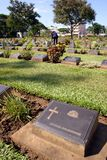 Anzac Headstone. Memorial made for the Burma Railway disaster royalty free stock photo