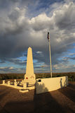 Anzac Hill. War Memorial on ANZAC Hill in Alice Springs at Sunset. Northern Territory. Australia royalty free stock images
