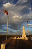 Anzac Hill. War Memorial on ANZAC Hill in Alice Springs at Sunset. Northern Territory. Australia royalty free stock photography