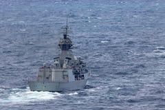 Anzac-klassefregatte HMAS Perth FFH 157 der k?niglichen australischen Marine stockbilder