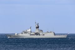 Anzac-klassefregatte HMAS Perth FFH 157 der k?niglichen australischen Marine stockfoto
