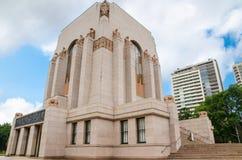 ANZAC Memorial is het belangrijkste herdenkings militaire die monument van Sydney, Australië, bij zuidelijk van Hyde Park wordt g royalty-vrije stock foto's