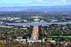 Anzac Parade Canberra  Royalty Free Stock Photos