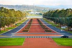 Anzac Parade Canberra, Australien Arkivfoto