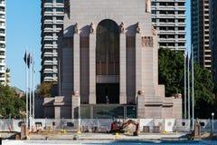 Anzac pomnik i basen odbicie odbudowa Zdjęcia Royalty Free