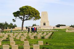 Memorial with names at Anzac  Turkey Stock Photos