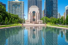 ANZAC War Memorial in sydney, australia. The ANZAC War Memorial is a heritage-listed war memorial, museum and monument located at Hyde Park South, near Liverpool stock photo