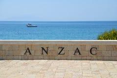 Anzac zatoczki pomnik w Canakkale Turcja Zdjęcia Royalty Free