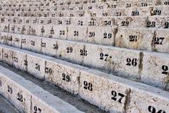 Anzahl der Sitze in der Arena stockfoto